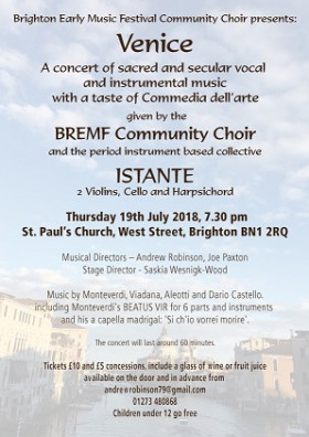 BREMF Community Choir presents: Venice